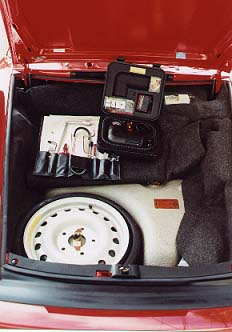 trunk, toolkit, spare